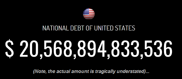 Debt clock USA