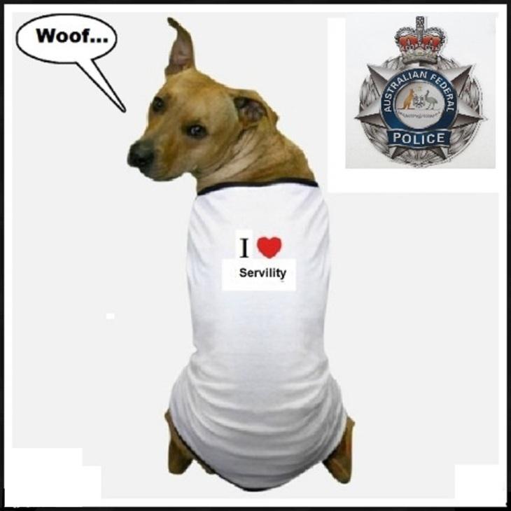 Australian Federal Police servility dog