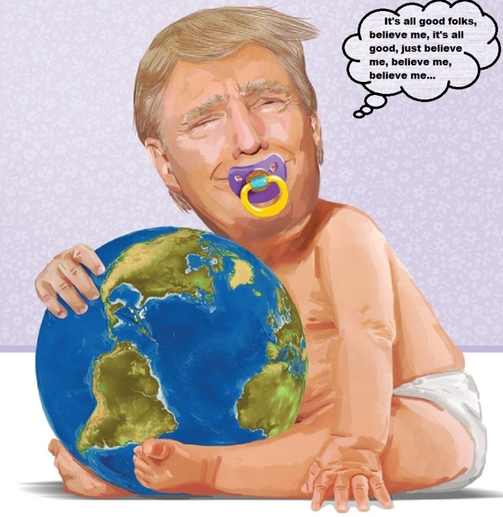Baby Trumpf planet ~ Believe me