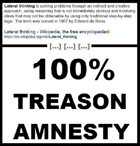 Lateral thinking treason amnesty no logo 490