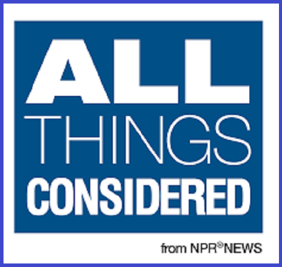 NPR All Things Considered BLUE BORDER
