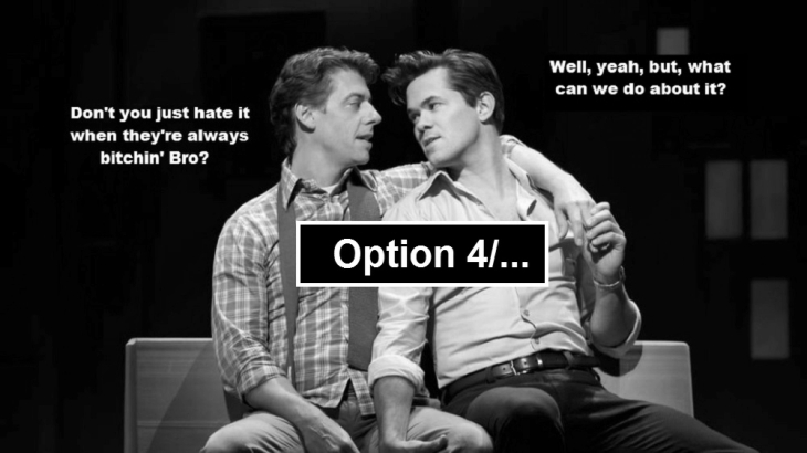 Option 4 ~ Gay bitchin