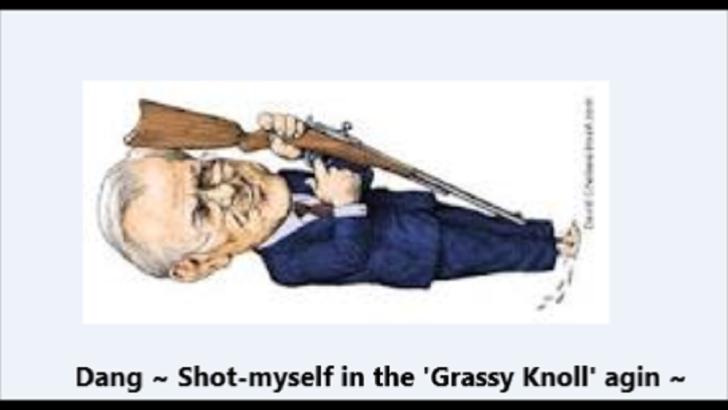 Rummy ~ Rumsfeld ~ Dang, shot myself in the Grassy Knoll again