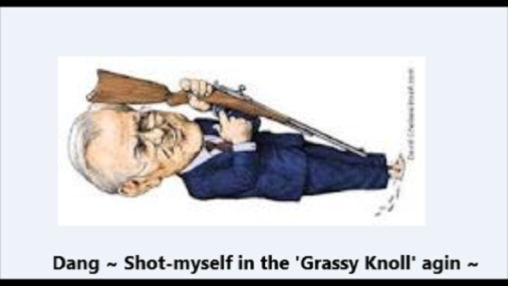 Rummy ~ Rumsfeld ~ Dang, shot myself in the Grassy Knoll again
