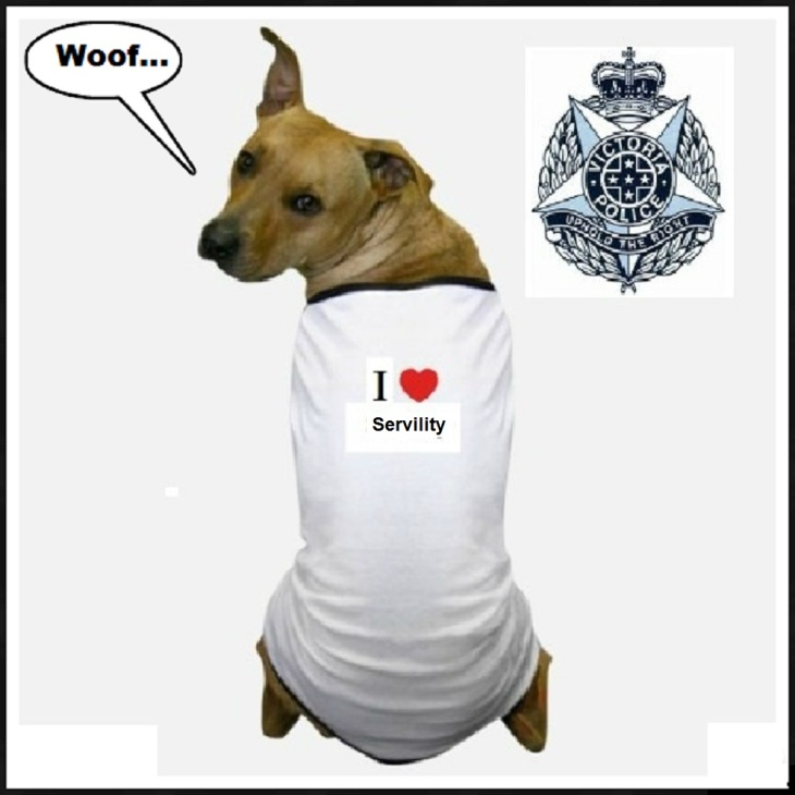 Victoria Police dog ~ Servility BLANK