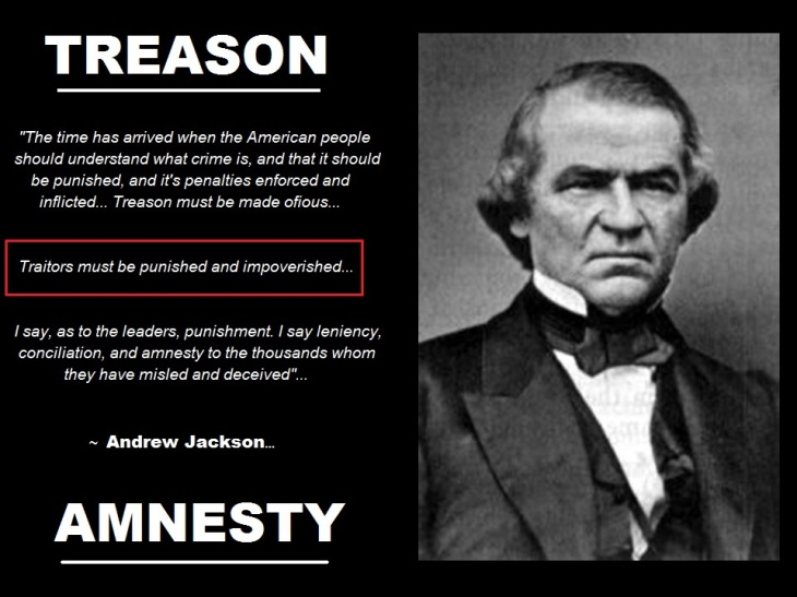 Andrew Jackson quote amnesty