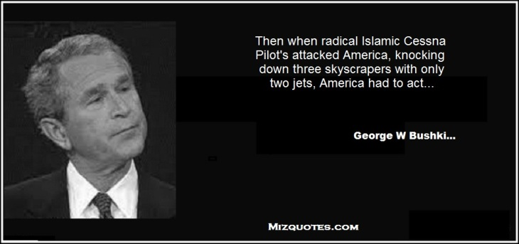 Bush head George W Bushki Mizquotes
