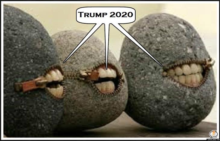 Talking rocks Trump 2020