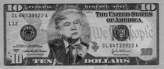 Trump Grump BW 10 dollar 560