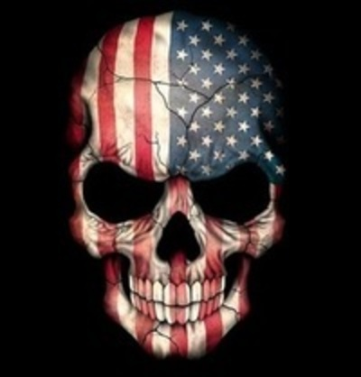 American flag skull 400