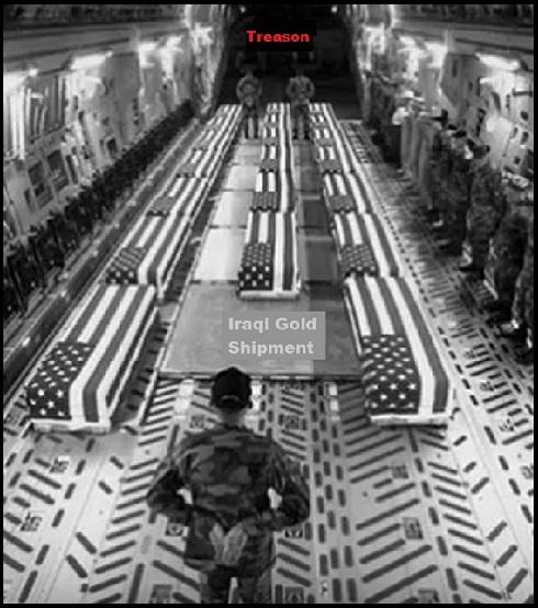 Iraq Gold Coffins black and white TREASON 490