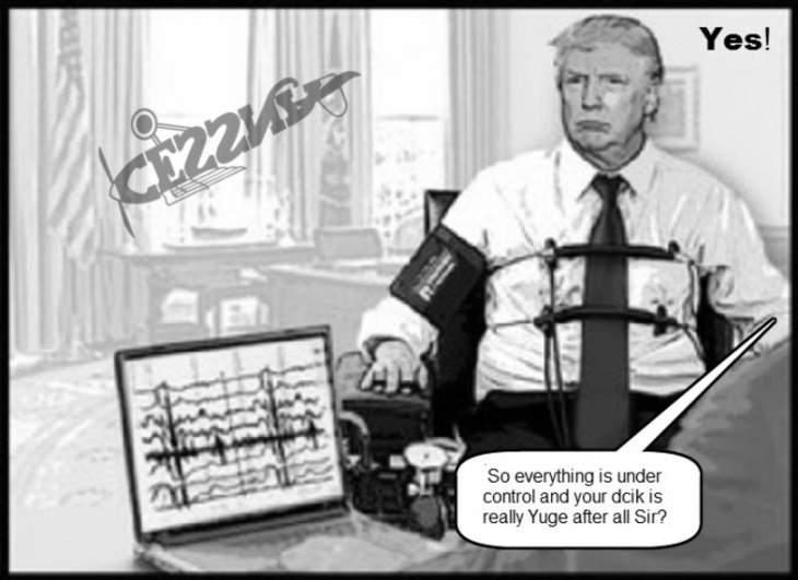 Trump AAA Cessna lie Detector Dcik really Yuge