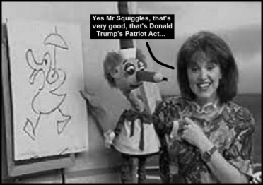 Mr Squiggles Trump Patriot Act 600 BW