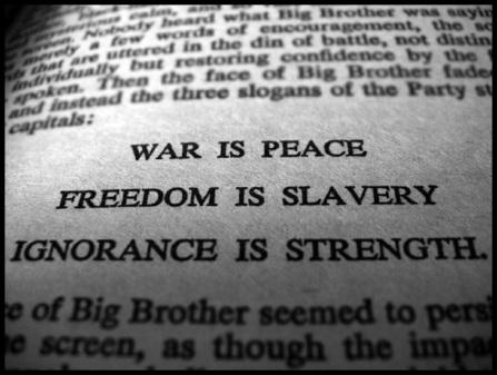 WAR IS PEACE Orwell