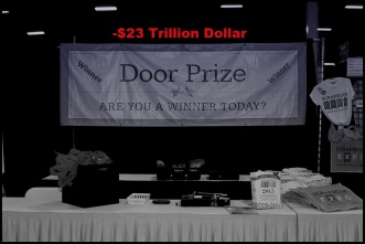 Door prize blue 23 trillion BW