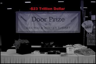 Door prize blue 23 trillion BW
