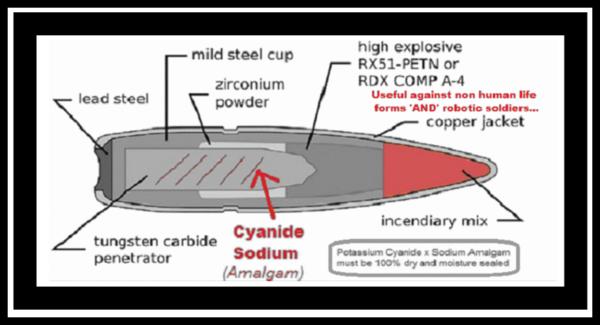 Cyanide Explosive 'AP' round 600 heavy border